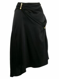Versace draped asymmetric skirt - Black