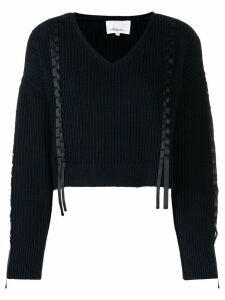 3.1 Phillip Lim cropped knitted jumper - Blue