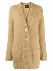 Erika Cavallini long oversized cardigan - Neutrals