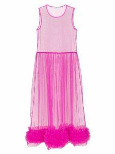 Molly Goddard Alison sheer tulle midi dress - Purple