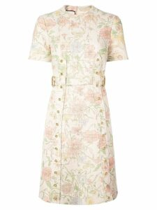 Gucci floral print dress - White