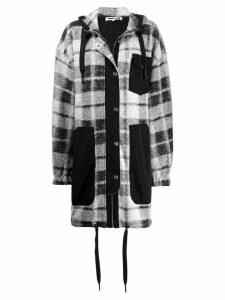 McQ Alexander McQueen plaid hooded coat - Black