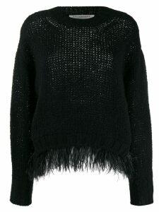 Philosophy Di Lorenzo Serafini embellished loose-fit jumper - Black