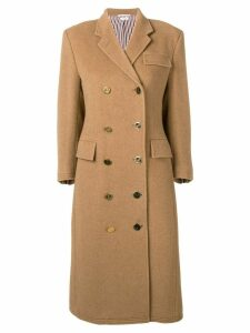 Thom Browne Camel Hair Chesterfield Overcoat