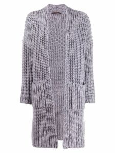 Incentive! Cashmere knitted cardi-coat - Grey