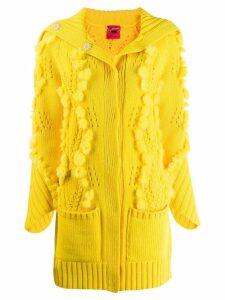 Blumarine knitted cardi-coat - Yellow