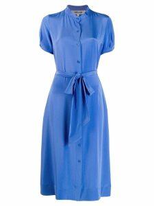Diane von Furstenberg belted shirt dress - Blue