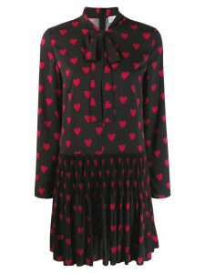 Red Valentino heart print shift dress - Black
