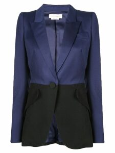 Alexander McQueen two-tone tailored blazer - Black