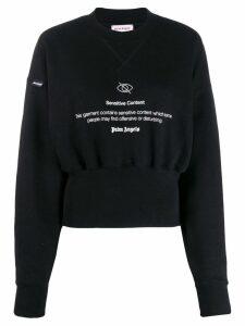 Palm Angels Sensitive Content graphic print sweatshirt - Black