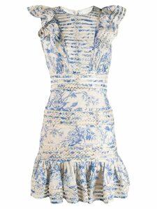 Zimmermann Verity Panelled Linear Dress - Blue