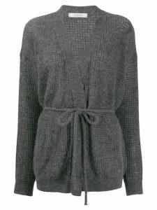 Dorothee Schumacher tie-waist cardigan - Grey