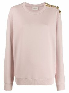Alexandre Vauthier button-embellished sweater - Pink