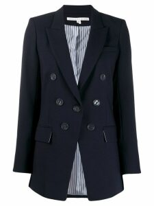Veronica Beard button embellished fitted blazer - Blue