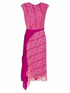 Sies Marjan Anita lace asymmetric midi dress - Pink