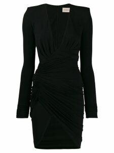 Alexandre Vauthier long-sleeve fitted dress - Black