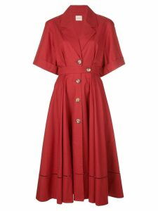 Khaite buttoned flared dress