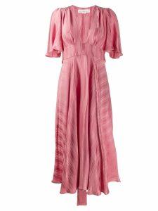 Golden Goose striped midi dress - Pink