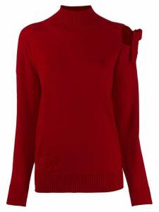 Blumarine cut-out detail jumper - Red
