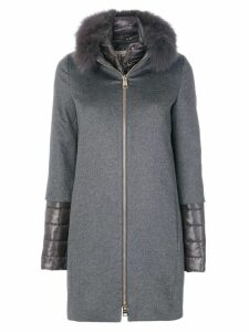 Herno padded layered coat - Grey