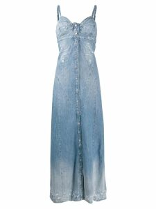 Diesel distressed denim maxi dress - Blue