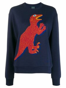 PS Paul Smith dinosaur embroidered sweater - Blue
