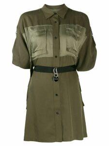 Diesel adjustable shirt dress - Green