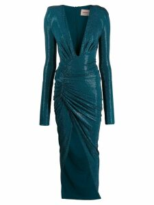 Alexandre Vauthier long-sleeve fitted maxi dress - Blue