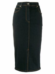 Blumarine denim midi skirt - Blue