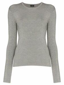 Joseph stretch-knit long-sleeve top - Grey