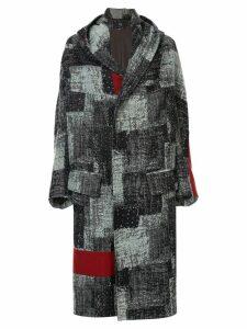 Y's printed hooded jacket - Grey