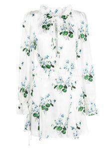 Les Reveries Daffodil print mini dress - White