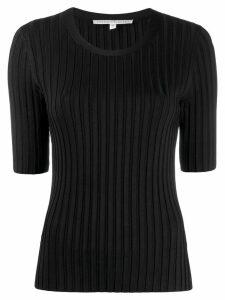 Veronica Beard short-sleeve fitted sweater - Black