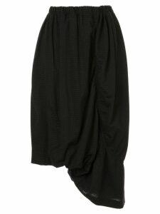 Y's gathered midi skirt - Black