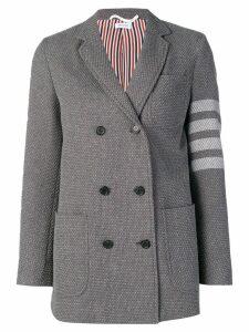 Thom Browne 4-Bar Jacquard Sack Jacket - Grey