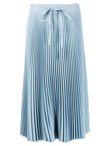 Red Valentino drawstring pleated midi skirt - Blue