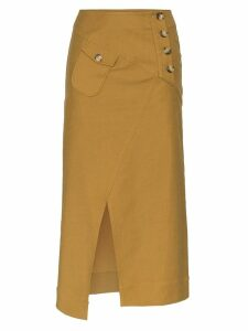 Rejina Pyo cargo midi skirt - Brown