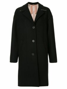 Nº21 wool oversized single breast coat - Black