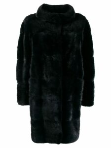 Simonetta Ravizza fur coat with round collar - Blue