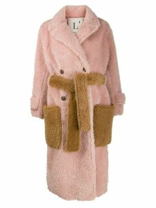 L'Autre Chose oversized faux-fur coat - Pink