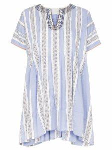 Lemlem Amira striped mini smock dress - Blue