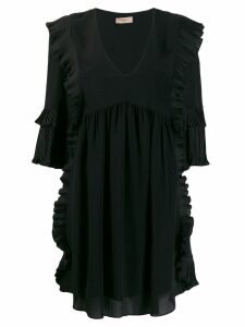Twin-Set ruffled day dress - Black