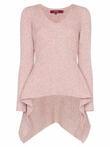 Sies Marjan Grace melange draped sweater - Pink