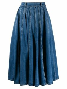 Elisabetta Franchi high-waisted skirt - Blue
