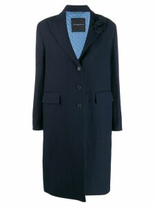 Ermanno Scervino textured single-breasted coat - Blue