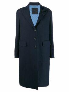 Ermanno Scervino textured single-breasted coat - Blue