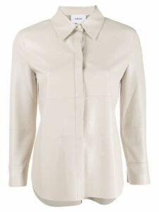 Nanushka Naum long-sleeved shirt - Neutrals