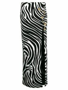Versace safety pin zebra skirt - Black
