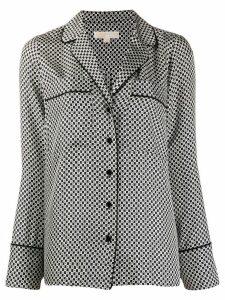 Michael Michael Kors digital print blouse - Black