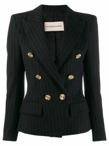 Alexandre Vauthier double-breasted pinstripe blazer - Black